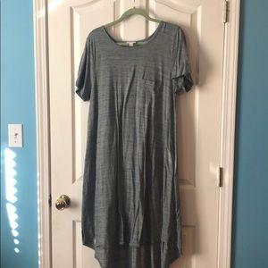 High low swing dress gray Lularoe XL